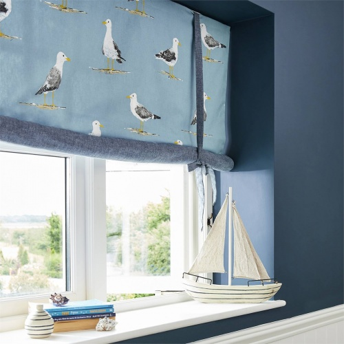 Sanderson Home Shore Birds Pacific Fabric 226493