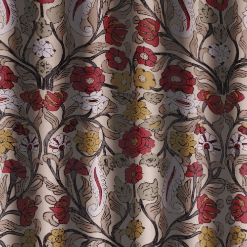 Gordon Smith Lizzie Red Curtain Fabric