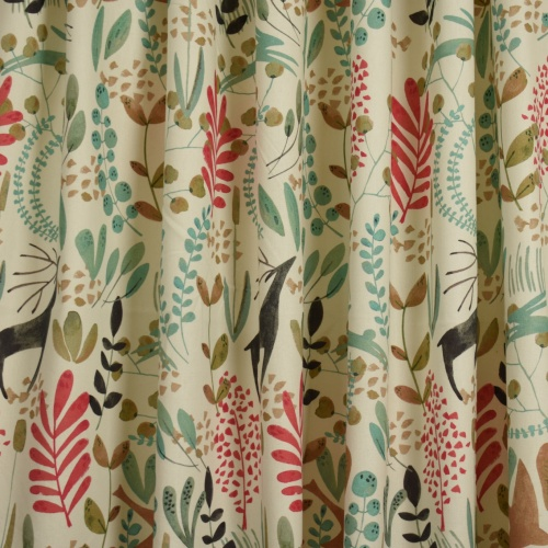 Chess Designs Gazelle Coral Curtain Fabric