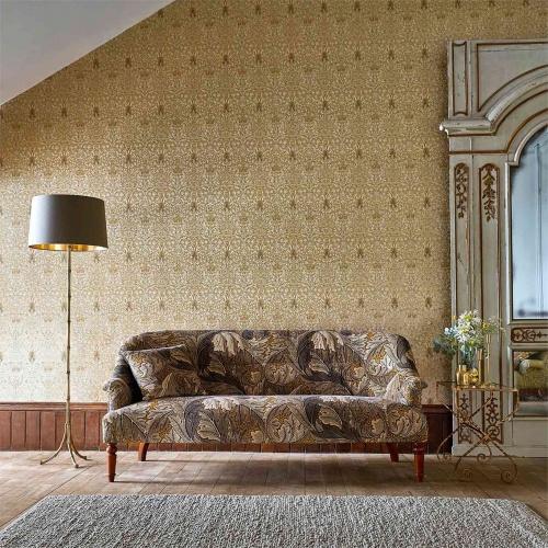 Morris & Co Snakeshead Gold/Linen Wallpaper 216429
