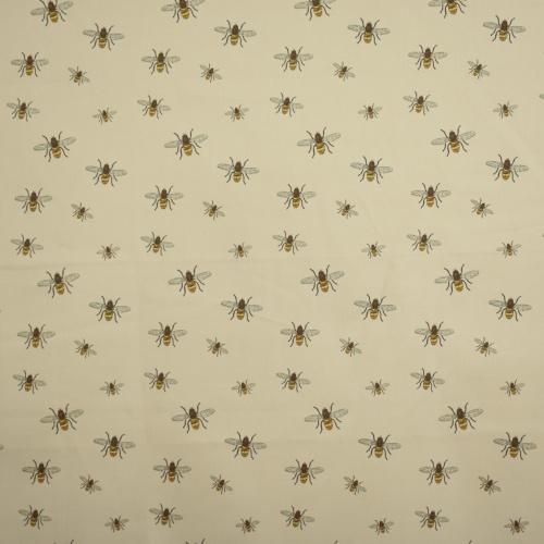 Gordon Smith Bees Beige Curtain Fabric