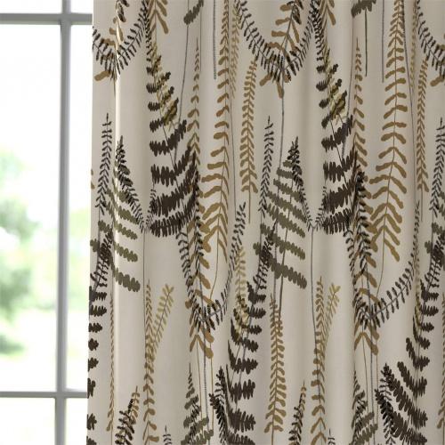 Scion Athyrium Chalk Pewter and Biscuit Fabric 133530