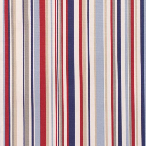 Gordon Smith Funky Stripe Blue Curtain Fabric