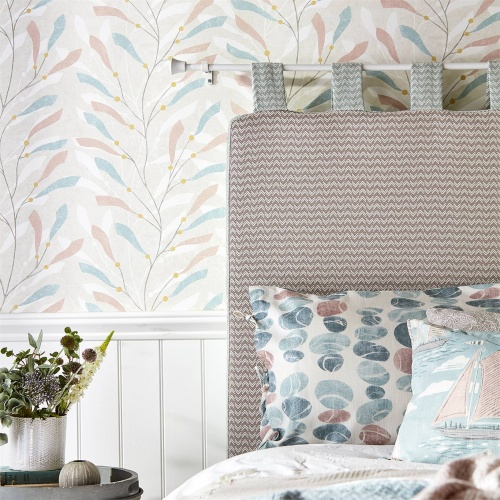 Sanderson Home Stacking Pebbles Sky/Blush Fabric 226497