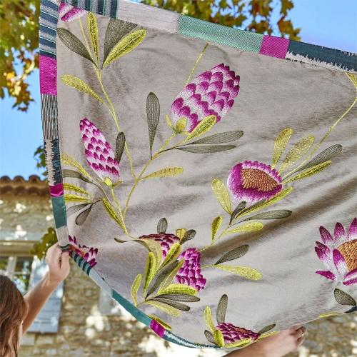 Harlequin Cayo Cerise/Zest Curtain Fabric 132638