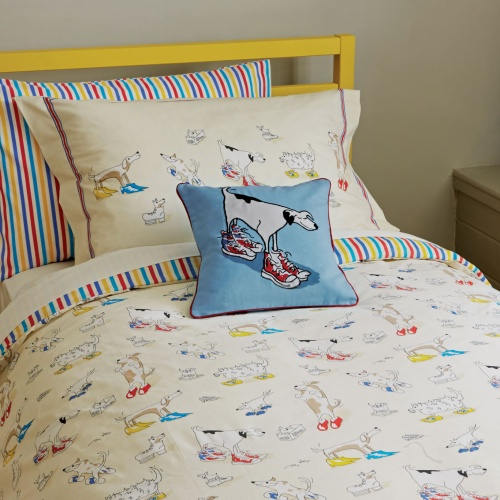 Little Sanderson Dogs in Clogs Single Duvet Set