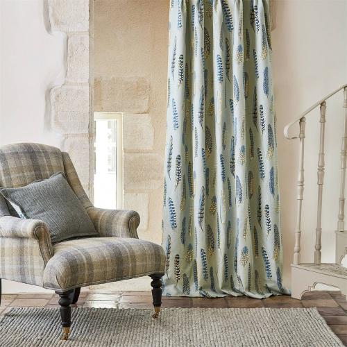Sanderson Lismore Indigo/Silver Curtain Fabric 226523