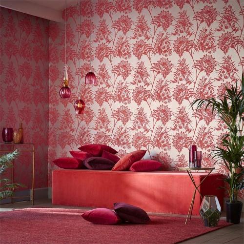 Harlequin Bavero Coral Wallpaper 111766
