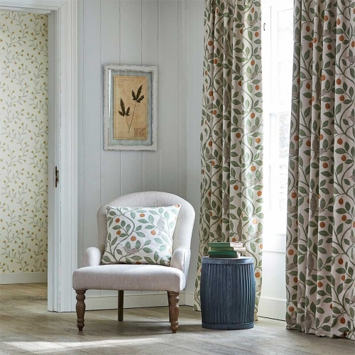 Sanderson Home Damson Tree Brick/Fennel Fabric 226362