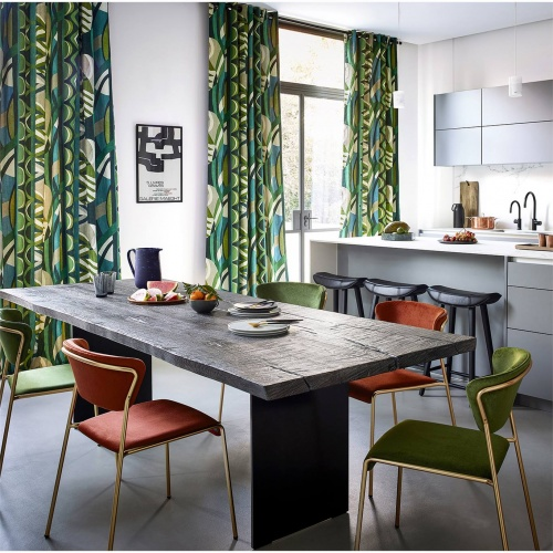 Harlequin Atelier Emerald / Zest / Marine Curtain Fabric 120794