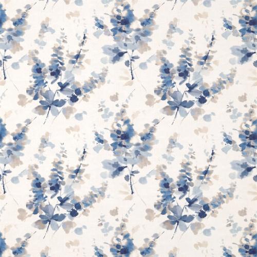 Sanderson Delphiniums Indigo Fabric 226288