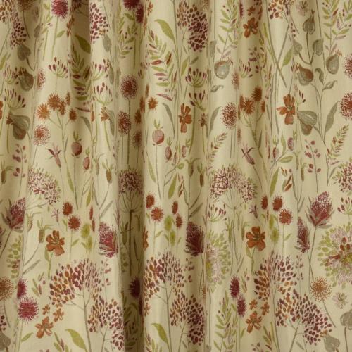 Voyage Flora Cream Russet Curtain Fabric