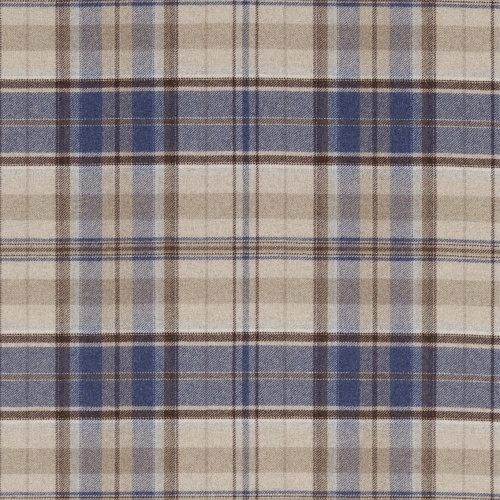 Sanderson Byron Indigo/Stone Fabric 233240