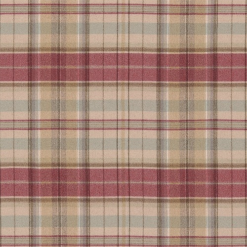 Sanderson Byron Cherry/Biscuit Fabric 233243