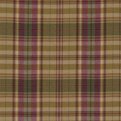Sanderson Byron Caramel/Burgundy Fabric 233244