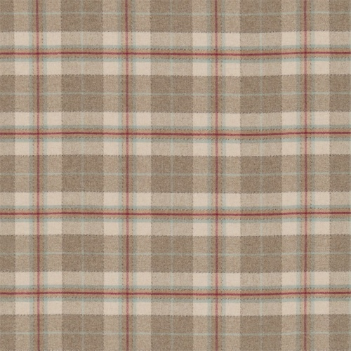 Sanderson Milton Cherry/Biscuit Fabric 233250