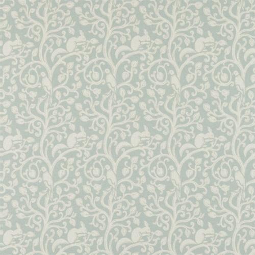 Sanderson Squirrel & Dove Wool Eggshell Fabric 233266