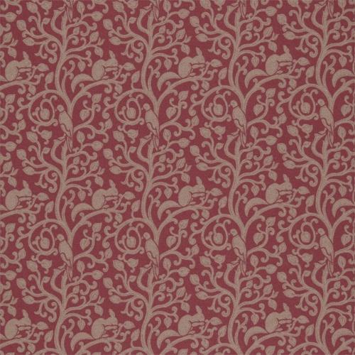 Sanderson Squirrel & Dove Wool Cherry Fabric 233267