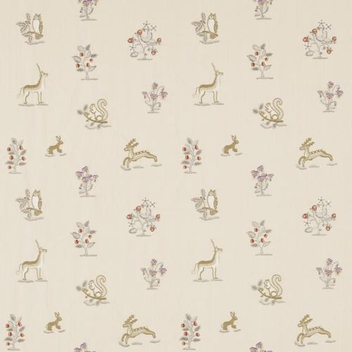 Sanderson Clemence Vanilla/Silver Fabric 233991