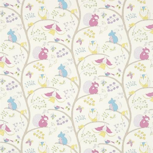 Sanderson Going Batty Pink/Blue Fabric 223899