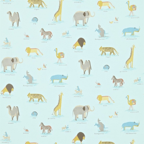 Sanderson Two by Two Powder Blue Fabric 223903