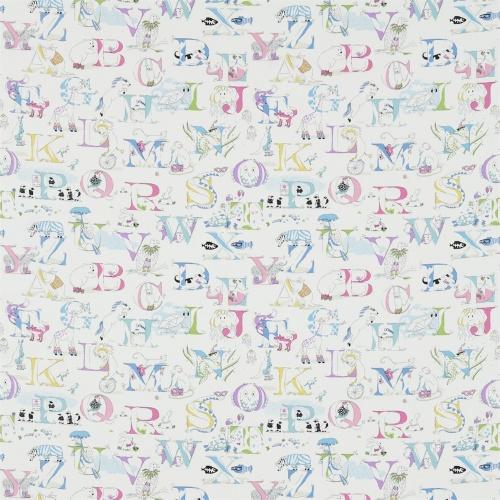 Sanderson Alphabet Zoo Neapolitan Fabric 223911