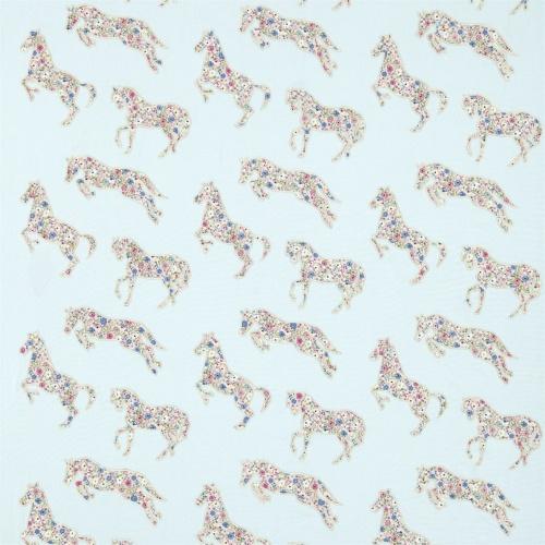 Sanderson Pretty Ponies Chintz/Blue Fabric 233925