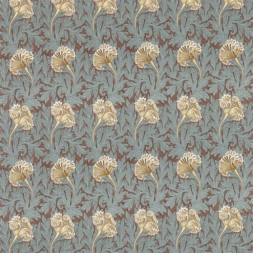 Morris & Co Tulip Bullrush/Slate Curtain Fabric 224458