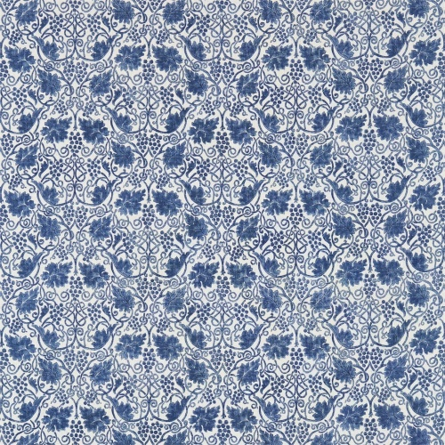 Morris & Co Grapevine Indigo Curtain Fabric 224476
