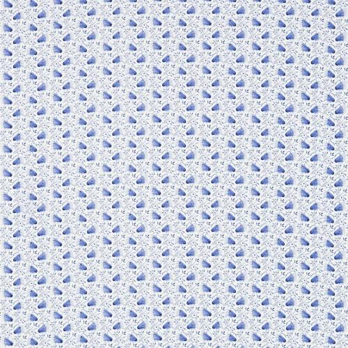 Morris & Co Swans Delft Blue Curtain Fabric 224479