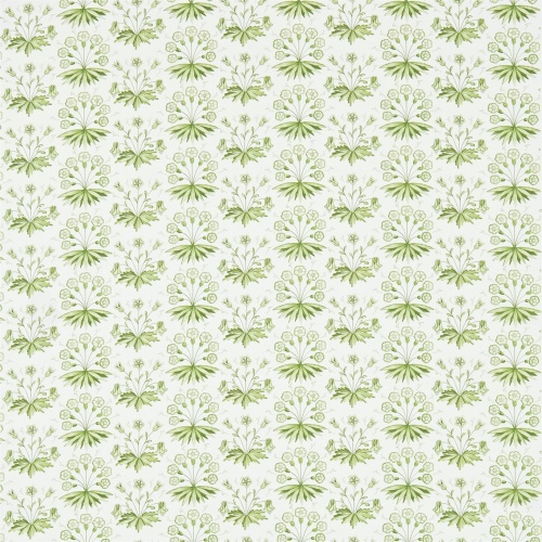 Morris & Co Primrose & Columbine Thyme/Ecru Curtain Fabric 224480