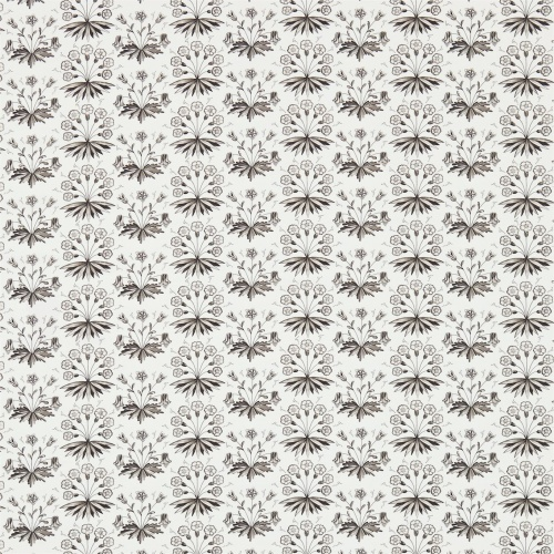 Morris & Co Primrose & Columbine Charcoal/Ecru Curtain Fabric 224481