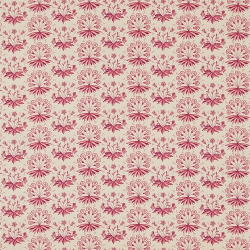 Morris & Co Primrose & Columbine Claret Curtain Fabric 224482