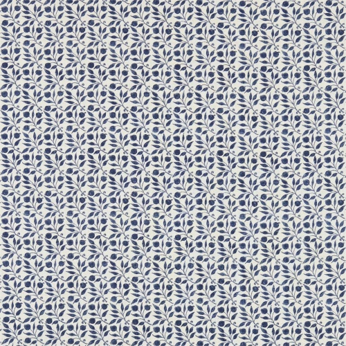 Morris & Co Rosehip Indigo Curtain Fabric 224486 & 226457