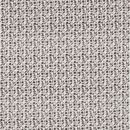 Morris & Co Rosehip Black/Ecru Curtain Fabric 224488