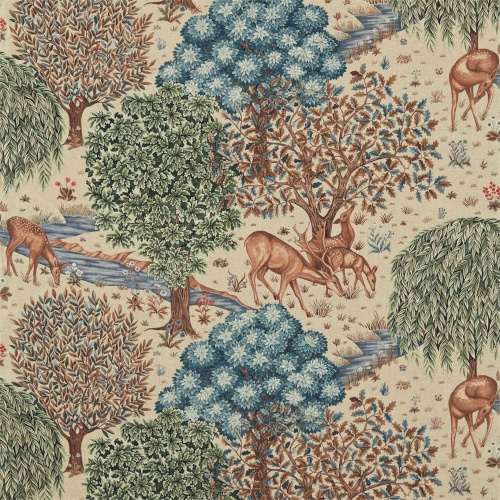 Morris & Co The Brook Tapestry Linen Curtain Fabric 224561