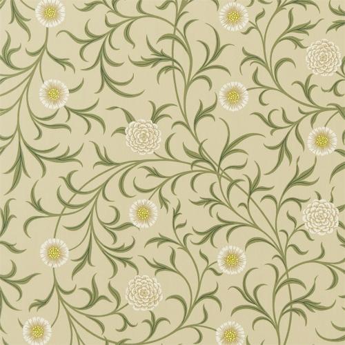 Morris & Co Scroll Loden/Thyme Curtain Fabric 220308