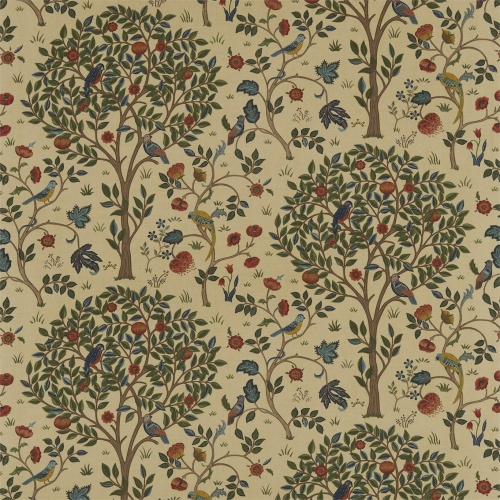 Morris & Co Kelmscott Tree Forest/Gold Curtain Fabric 220328