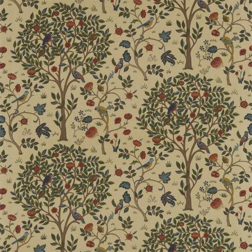 Morris & Co Kelmscott Tree Forest/Gold Curtain Fabric 220328