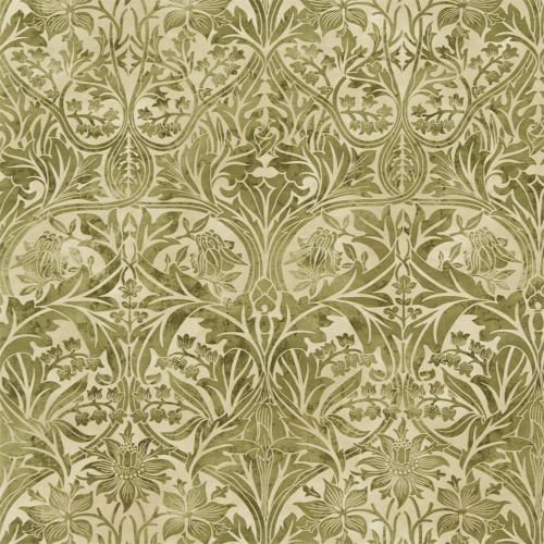 Morris & Co Bluebell Thyme/Vellum Curtain Fabric 220330