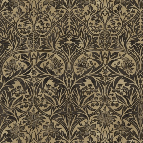 Morris & Co Bluebell Black/Manilla Curtain Fabric 220331