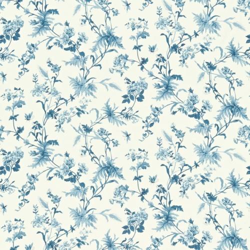 Sanderson Primrose Hill China Blue/Ivory Curtain Fabric 221939