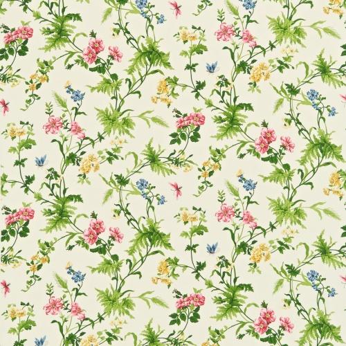 Sanderson Primrose Hill Cherry/Primrose Curtain Fabric 221940