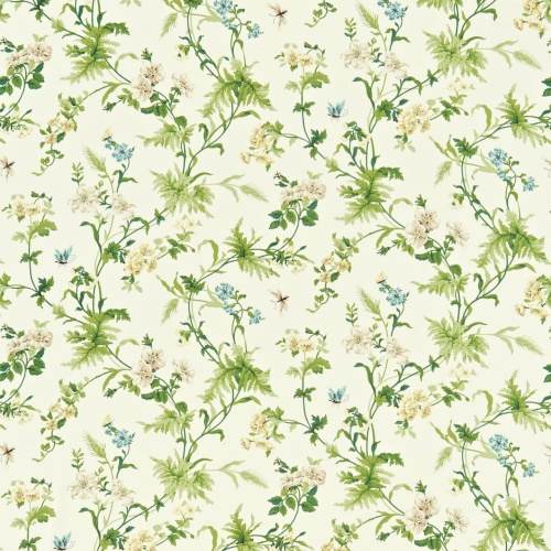 Sanderson Primrose Hill Cream/Olive Curtain Fabric 221941