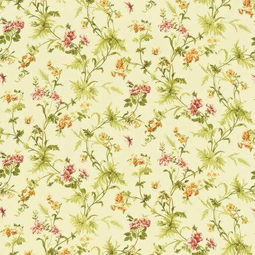 Sanderson Primrose Hill Gold/Russet Curtain Fabric 221942