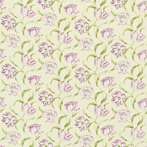Sanderson Dancing Tulips  Lilac/Stone Curtain Fabric 221947