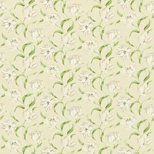 Sanderson Dancing Tulips Cream/Ivory Curtain Fabric 221948