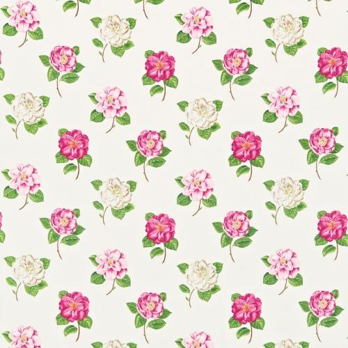 Sanderson Lamorna Pink/Ivory Curtain Fabric 221953