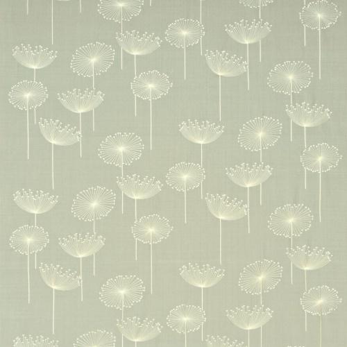 Sanderson Dandelion Clocks Embroidery Silver/Ivory Fabric DOPEDA305