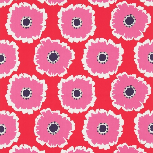 Sanderson Papavera Scarlet/Cerise Fabric 224612